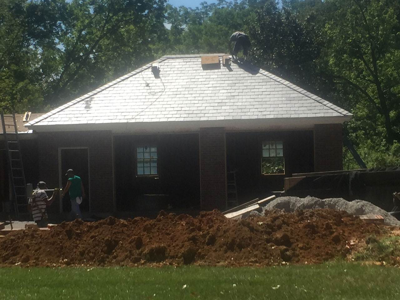A Vermont Slate Roof Was By Carlon Roofing To Match The Existing On House