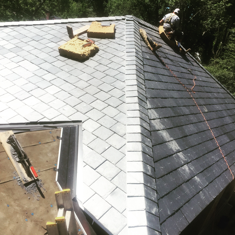 Slate Roof Installation : Carlon roofing sheet metal slate roof installation