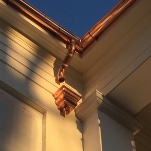 Custom Copper Half Round Gutters