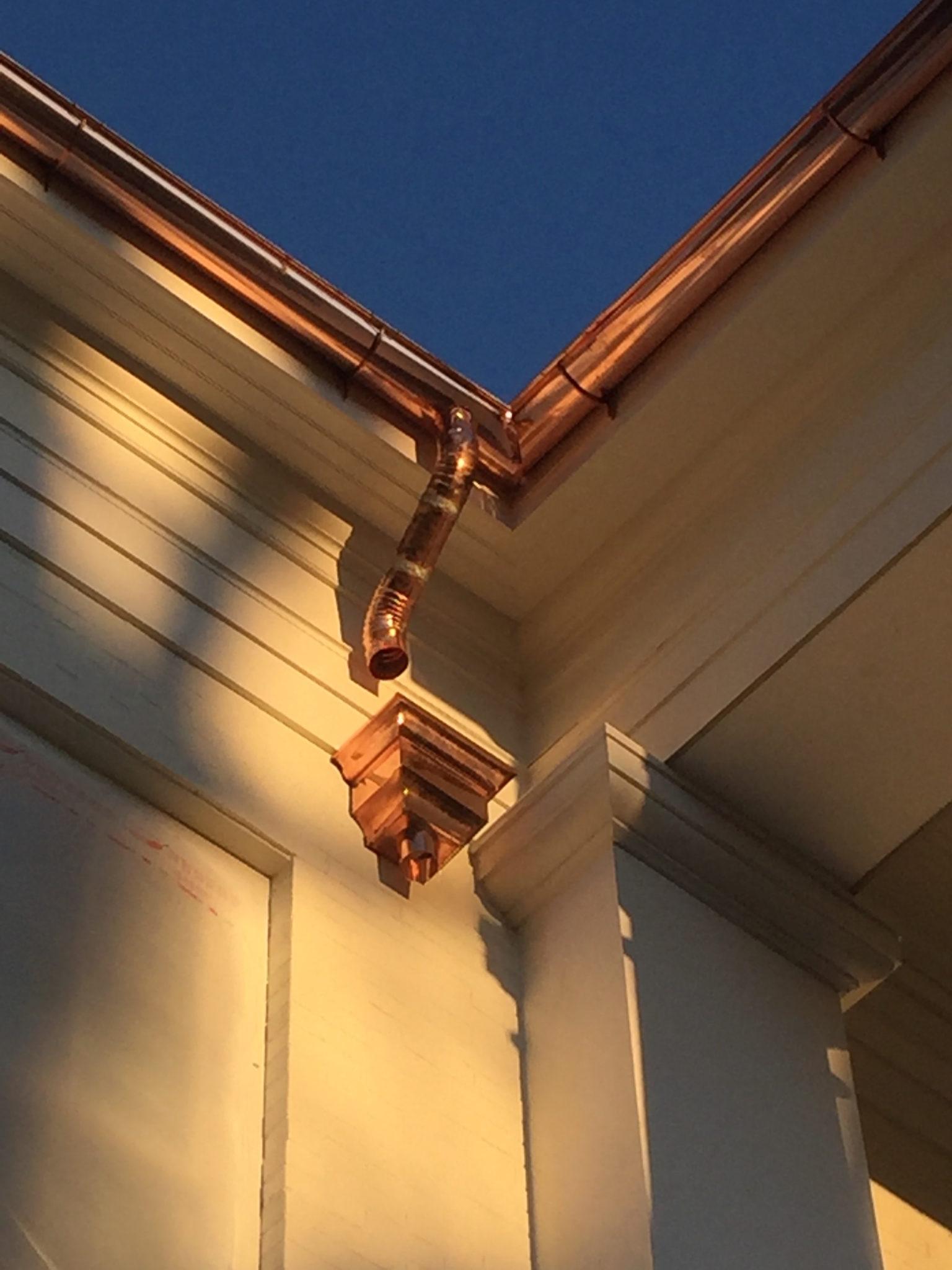 Good Custom Copper Half Round Gutters. Carlon Roofing ...