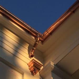 Copper Gutter Downspouts