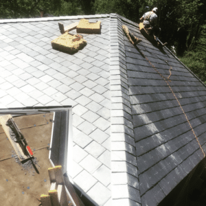 Slate Tile Roof Installation